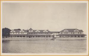 RPPC - Manhattan, KS., Boathouse on the River