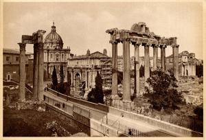Italy - Rome, Remains of the Temple of Saturn   *RPPC