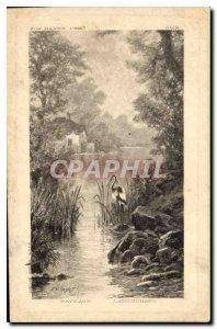 Postcard Old Paysage Landschaft