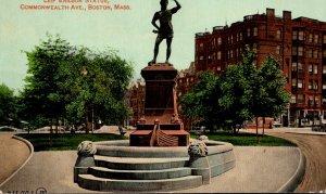 Massachusetts Boston Leif Erickson Statue Commonwealth Avenue