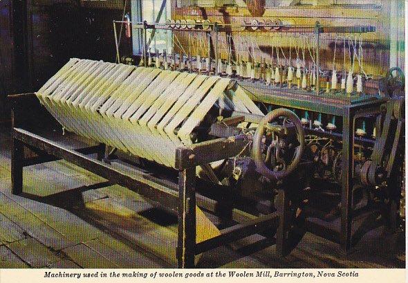 Canada Woolen Machinery Woolen Mill Barrington Nova Scotia