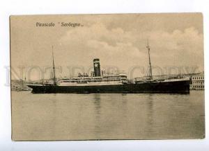 190841 ITALY PIROSCAFO ship SARDENA Vintage postcard
