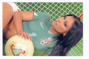 Soccer  Goalie  Girl wearing only body paint, 1990s #15