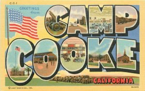 Base Camp 1940s Military Camp Cook California Large Letters Postcard 20-10064