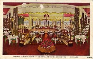 MARINE DINING ROOM EDGEWATER BEACH HOTEL CHICAGO 1943
