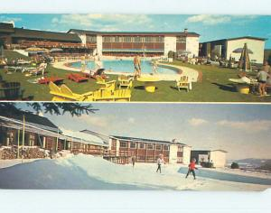 Chipped - Pre-1980 MONT GABRIEL LODGE MOTEL Mont Gabriel Quebec QC o0305