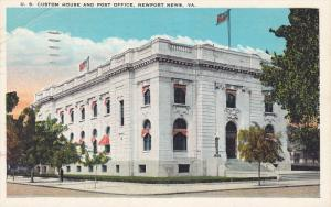 U. S. Custom House and Post Office, NEWPORT NEWS, Virginia, PU-1930