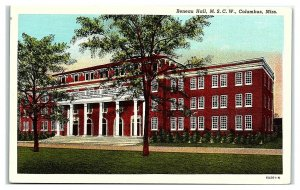 Reneau Hall, Mississippi State College for Women, Columbus, MS Postcard *7C4