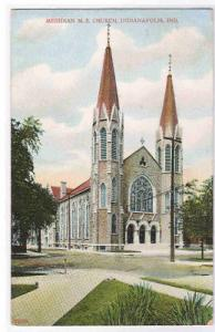 Meridian ME Church Indianapolis IN 1908 postcard