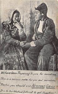 Keystone Grease Black Couple Advertising Rare Postcard
