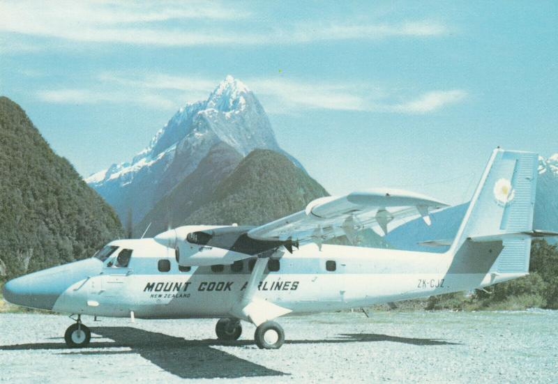 Mt. Cook Airlines DHC Twin-Otter Airplane, New Zealand , 50-70s