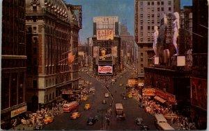 Hotel Astor Times Square, PEPSI Cola, Advertising, Chrome New York City Postcard