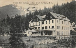 G33/ Vancouver? Washington Postcard 1910 Scenic Hot Springs Northern Railroad