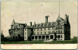 1909 Milwaukee, Wisconsin Postcard MILWAUKEE PROTESTANT HOME FOR THE AGED