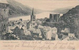 Panorama, Gruss Aus Bacharach (Rhineland-Palatinate), Germany, 1900-1910s