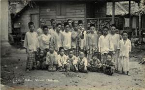 RPPC Postcard 711. Malay School Children Malaysia Boys c1920s?