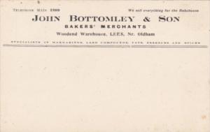 England Oldham John Bottomley & Son Bakers' Merchants