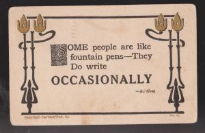 Comic Postcard - Some People Write Occasionally - Used 1911