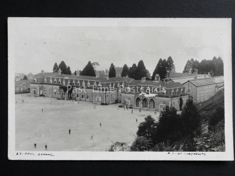 India: Darjeeling ST. PAUL'S SCHOOL - Old Real Photograph Postcard