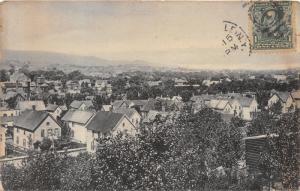 Gloversville New York~North End of West Pine Street Bird's Eye View~c1910 B&W Pc