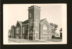 Vintage Federated Church Grafton North Dakota Real Photo Postcard