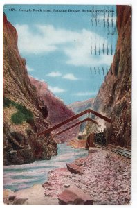 Royal Gorge, Colo., Sample Rock from Hanging Bridge