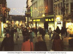 Marks & Spencers Scarborough Yorkshire Shopping Precinct Christmas Rare Postcard