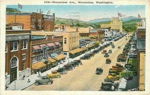 Automobiles Wentachee Washington Birdseye Robbins Tilquist 1933 postcard 9765