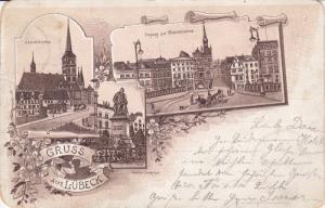 Gruss aus LUBECK (Schleswig-Holstein), Germany, PU-1899
