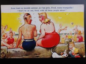 Doug Tempest AVEC TOUT CE MONDE AUTOUR, JE T'EN PRIE, FRED.... Bamforth Comic