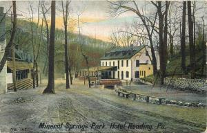 Mineral Springs Park Hotel Reading PA Pennsylvania USA