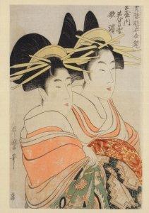 Kitagawa Utamaro Tamaya Brothel Prostitution Japanese Painting Postcard