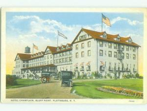 Unused W-Border CHAMPLAIN HOTEL Plattsburgh New York NY hr9026
