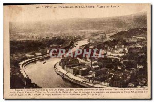 Old Postcard Panorama Lyon Vaise on the Saone and Serin