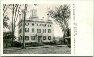 1900s Portsmouth, New Hampshire Postcard PIERCE MANSION, No. 32 Vaughan Street
