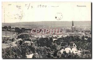 Postcard Old Graz Panorama