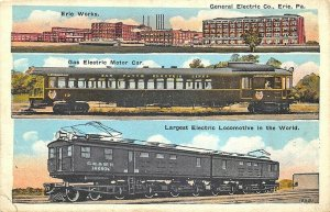 Erie PA General Electric Largest Electric Locomotive In The World Postcard