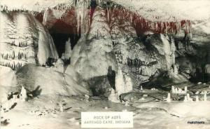 1940s Marengo Cave Indiana Rock of Ages RPPC real photo postcard 11441