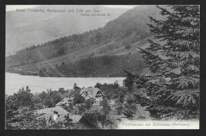 GERMANY Hotel Finsterlin Mountains Schliersee Unused c1910s