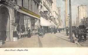 Dayton Ohio Main Street Scene Historic Bldgs Antique Postcard K26244