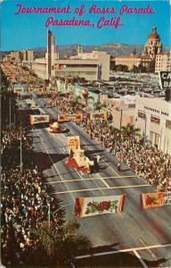 Pasadena California Bank~Floats~Tournament Of Roses Parade~1961 Postcard