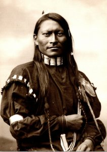 Cheyenne Indian Red Sleeve Photgraphed 1880 At Fort Keogh Montana By L A Huffman