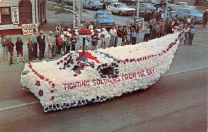 Hazel Park MI~Soldiers Fight From Sky~Memorial Day Parade~1960s Auto Trim Shop