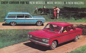 1961 CHEVY CORVAIR, New Models & 4 New Wagons, 10-Page Booklet