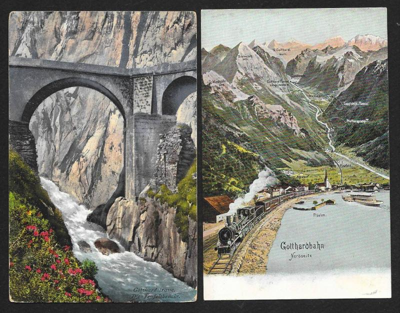 Postcard Tour of Switzerland (136) postcards Unused & Used Fresh c1900s-1930s