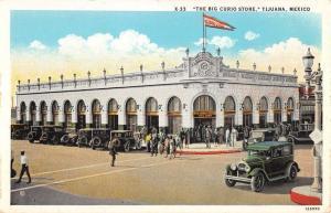 Tijuana Mexico Big Curio Store Exterior Street View Antique Postcard K23533