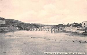 Panama Old Vintage Antique Post Card General view of Spillway, Looking North ...