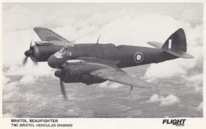 Bristol Beaufighter Hercules Military Plane Postcard