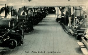 MA - Charlestown, Boston. USS Constitution (Old Ironsides), Gun Deck