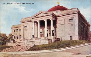 Des Moines Iowa~New Methodist Episcopal Church on Hill~1921 Postcard